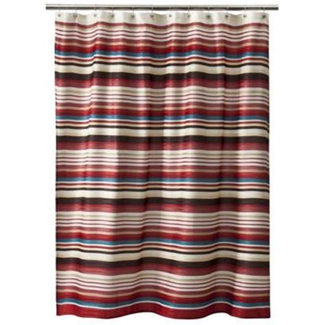 target red shower curtain threshold herringbone stripe shower curtain red rv