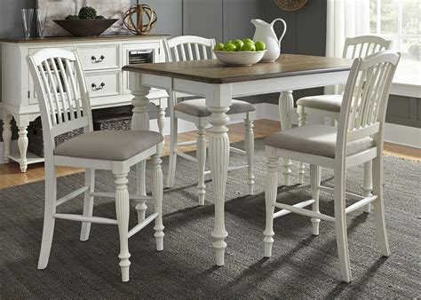 white counter height dining table cumberland creek nutmeg and white counter height