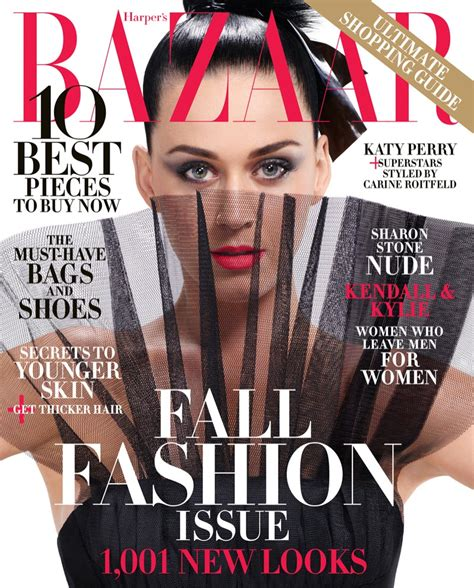 Cover Wars Harpers Baazar Vs Vogue Nippon by Katy Perry For S Bazaar September 2015 Cover Photos