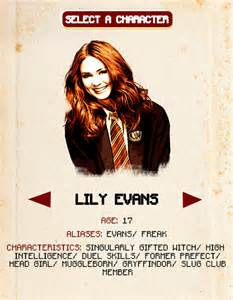 Peter L Barnes Karen Gillan Mine Edit Lily Evans Sirius Black Hp James