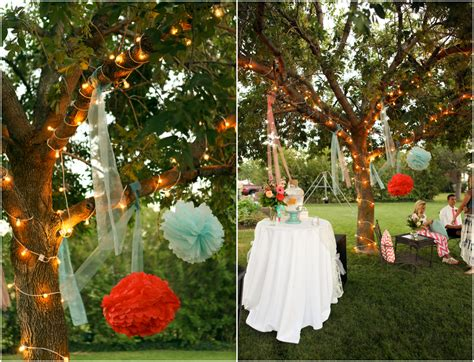backyard decorations for bright and colorful backyard wedding rustic wedding chic