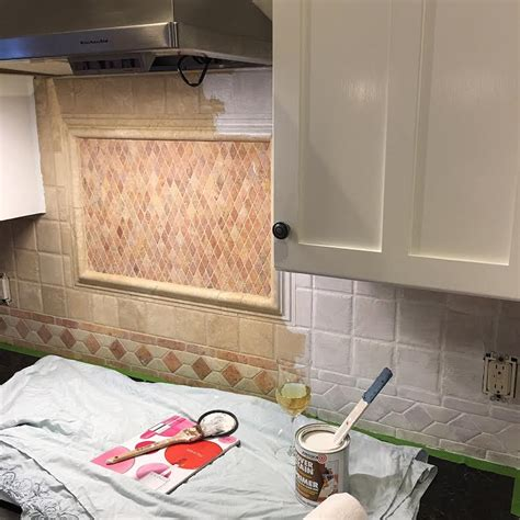 how to paint kitchen tile backsplash follow these easy steps to paint your ugly back splash