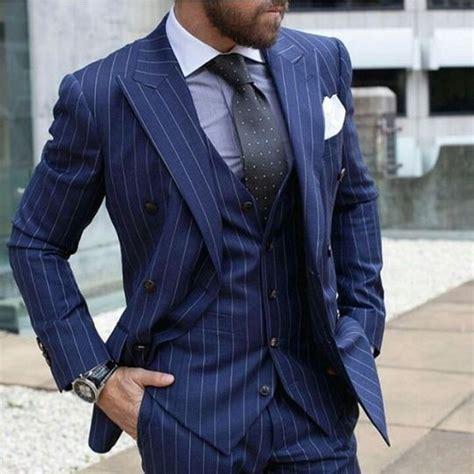 blue pattern men s suit 2018 latest coat pant designs navy blue strip pattern men