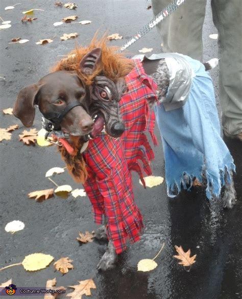 headed werewolf dog costume