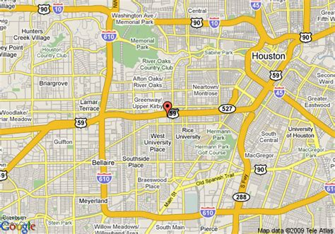 map of courtyard by marriott houston west university houston