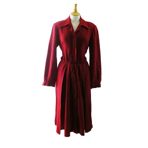 80s wool pleated dress 12 blue 17 vintage fashion