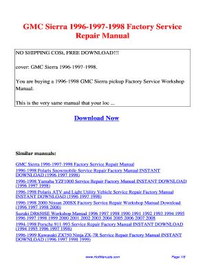 how to download repair manuals 1996 gmc rally wagon g3500 head up display 1996 gmc sierra repair manual fill online printable fillable blank pdffiller
