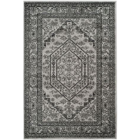 black and silver rug safavieh adirondack silver black 4 ft x 6 ft area rug adr108a 4 the home depot