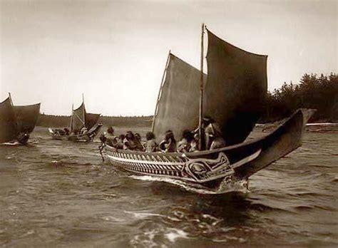 native american boats file kwakiutl sailing boats jpg wikimedia commons