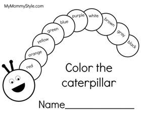 caterpillar coloring pages hungry caterpillar writing pages my style