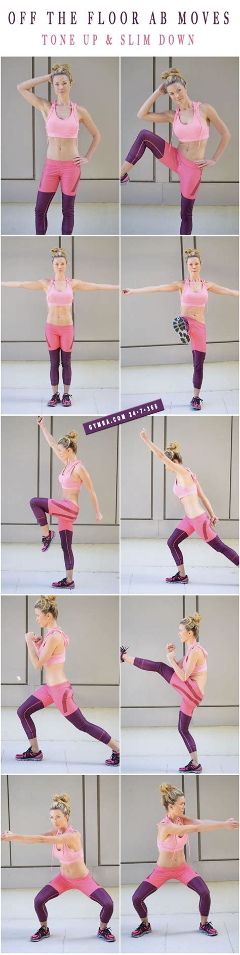 standing abs workout do each move in a circuit with or no in between try these