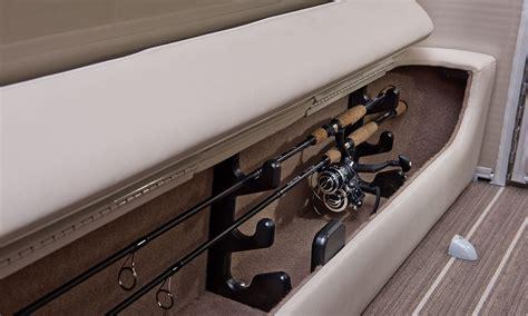 jon boat rod locker g25 cruise fishing pontoon boats by bennington