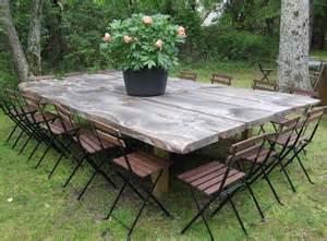 tables de jardin originales insolites recycl 233 es