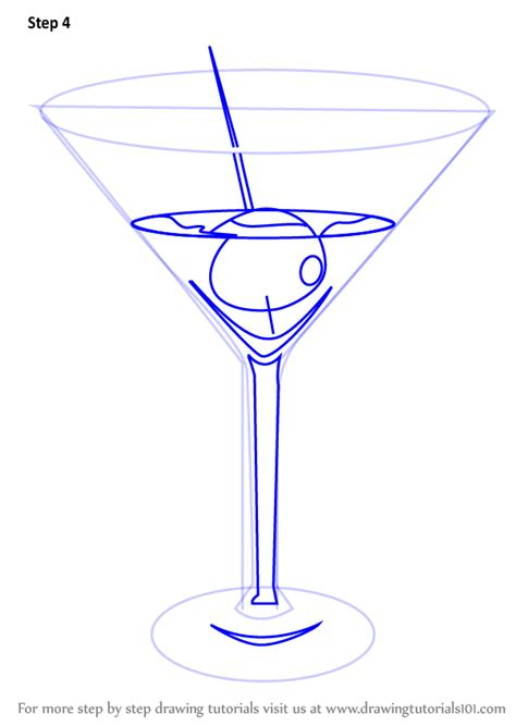 martini drawing by how to draw a martini drawingtutorials101 com