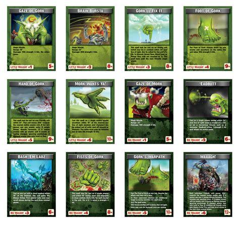 printable card tricks waaagh magic cards da warpath