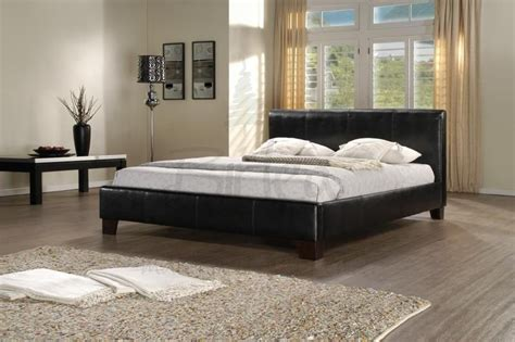 Leather Bed Frame King Size Birlea Black Leather King Size Bed Frame