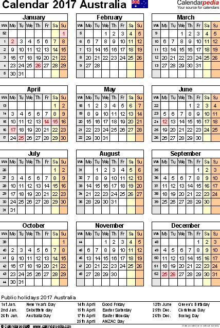 year planner 2017 australia australia calendar 2017 free printable pdf templates
