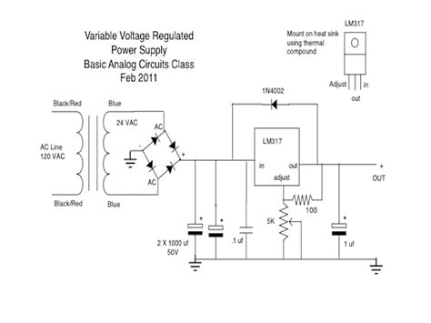 bench power supply schematic kleebtronics powersupply