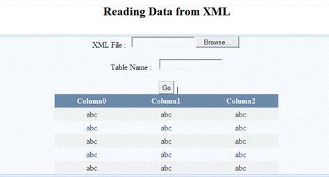 xml data pattern reading data from xml file