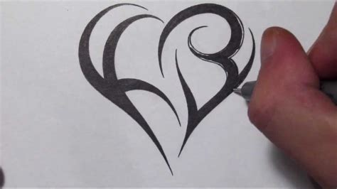 how to make a tattoo design how to create a using letters tribal initials