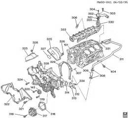engine asm 3 4l v6 part 3 front cover and cooling