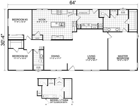 little house plan home 32 x 64 2 bed 2 bath 1941 sq ft little house on the trailer