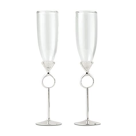 Wedding Glasses by Wedding Or Engagement Chagne Glasses The Knot Shop