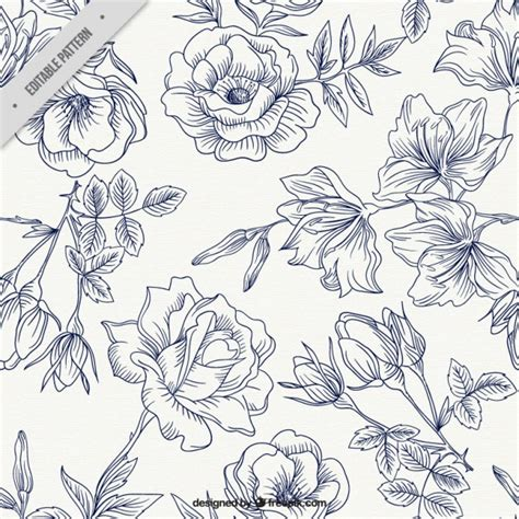 flower pattern design vector spring roses pattern vector free download