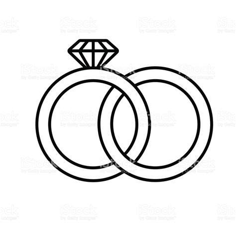 Wedding Ring Vector by Wedding Rings Icon Stock Vector 680482964 Istock