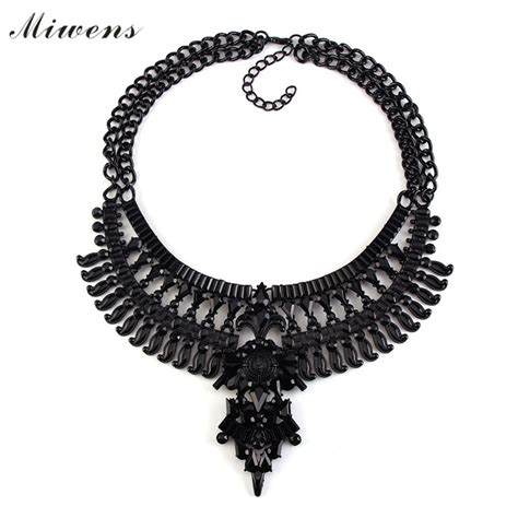 Choker Black Necklace Polos miwens 2016 new black collar statement necklaces