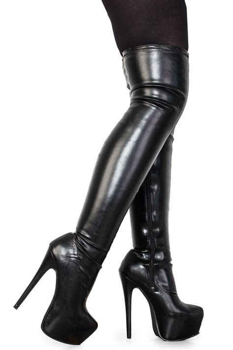 new black thigh high womens knee concealed