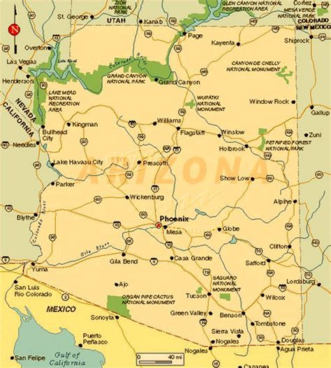 map of arizona cities arizona towns pictures to pin on pinsdaddy
