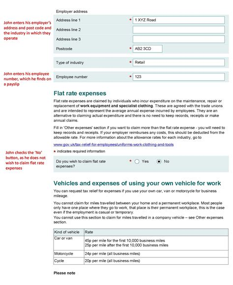 printable version p87 form form p87 claim for tax relief for expenses of employment