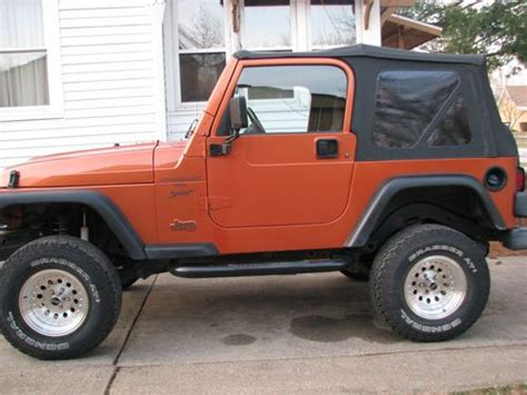 Used Jeeps For Sale In Iowa Buy Used 2000 Jeep Wrangler Sport Utility 2 Door 4 0l In