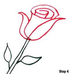 Easy Flower To Draw Step By Step - how to draw a rose step by step for kids easy clipart best