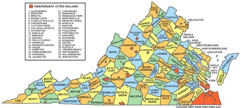 map of virginia counties virginia county map va counties map of virginia