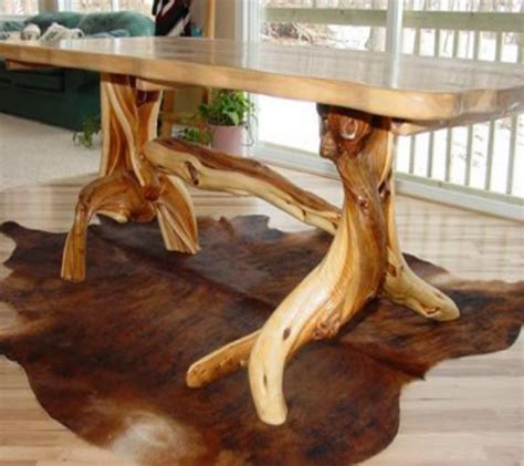 natural wood dining room tables log cabin dining table rustic furniture mountain design