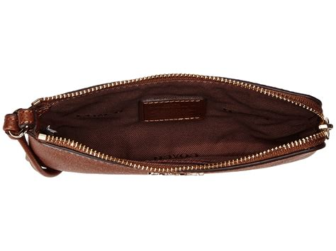 Wrislet Large Coach F 65748 coach embossed txrd leather sm l zip wristlet in brown li saddle lyst