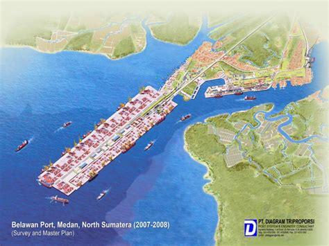 layout pelabuhan peti kemas belawan port