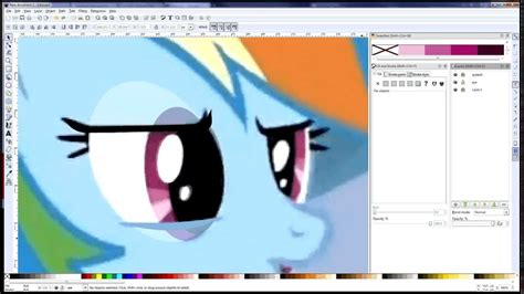 photo to vector tutorial pony eyes inkscape vector tutorial youtube