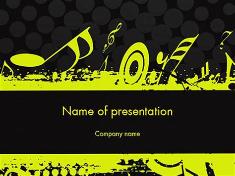 music theme powerpoint template backgrounds 11617