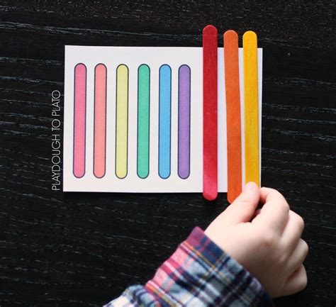 Sticks Card Template by 17 Awesome Rainbow Busy Bags Playdough To Plato