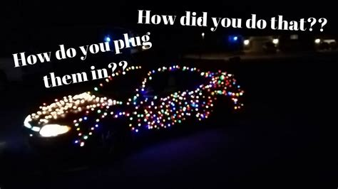 how i put christmas lights on my car and how to power