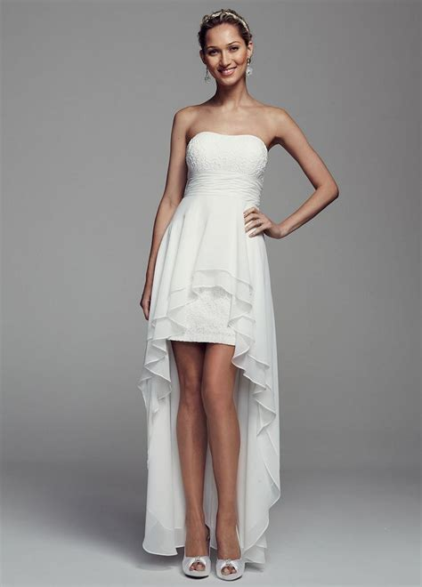 casual wedding dresses at affordable prices db studio by db studio strapless lace and chiffon high low wedding