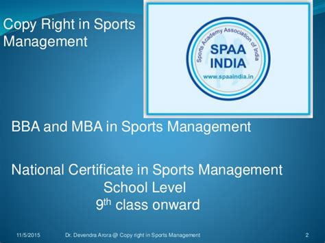 Mba In Defence Management In India by Copy Right Dr Devendra Arora In Course Of Sports Management