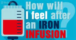 Are several common treatment sensations felt during an iron infusion
