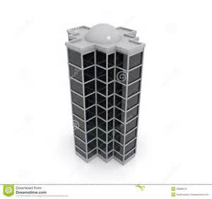 A Frame House Plans 3d Model Of Highrise Building Royalty Free Stock Photo