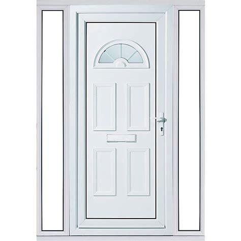 Wickes Carolina 2 Sidelight Upvc Door Set 2085 X 1520mm Wickes Front Doors Upvc