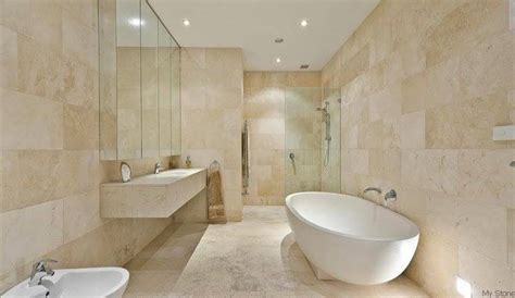 badezimmer behälter wannen ideen light travertine bathroom search home