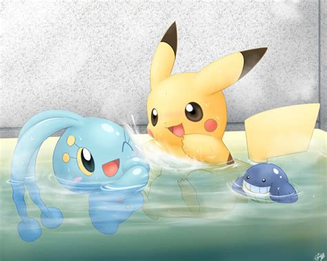 Pikachu Shower by The Pika Family